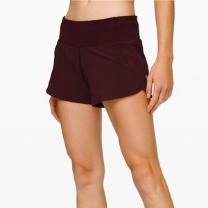 LuLuLemon Run Times Crimson Short II
